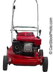 Lawn mowers red wiht isolated