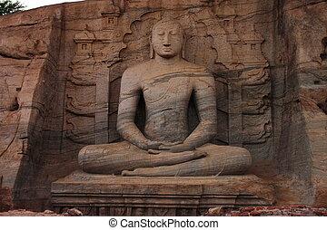 Buddha statue in Sri Lanka