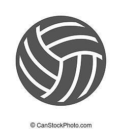 Volley ball, ball, game, match icon vector image Can also be...