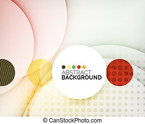 Colorful circles modern abstract composition with shadows...