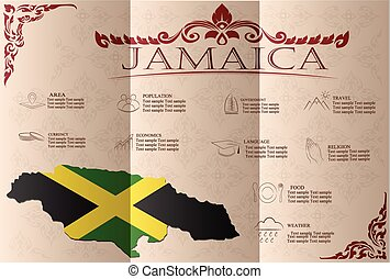 Jamaica,infographics, statistical data, sights. Vector...