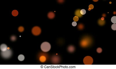 Colorful Bokeh Lights on the dark Background