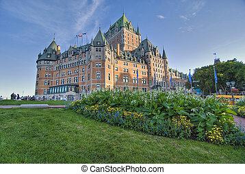Quebec Castle, Canada - Detail of Quebec City, Canada,...