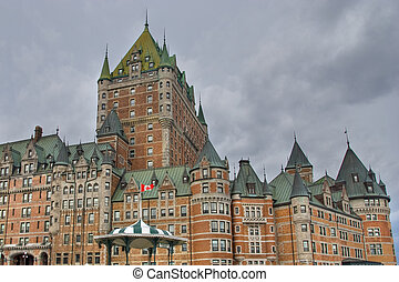 Hotel de Frontenac, Quebec, Canada - Detail of the Quebec...