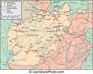 Afghanistan map - This image is a vector illustration and...