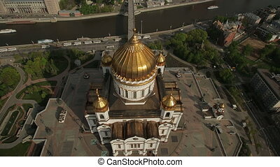 the Cathedral of Christ the Savior - aerial view of the...
