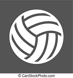 Volley ball, ball, game, match, sports icon vector image....