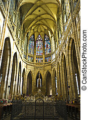 St Vitus Cathedral - beautiful interior of the St Vitus...