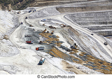 Coal mining site in the mountains