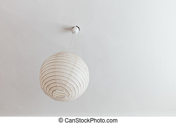 lamp in the bedroom, a symbol of decoration, simplicity,...