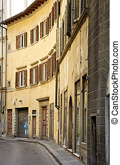 Old narrow street in Florence