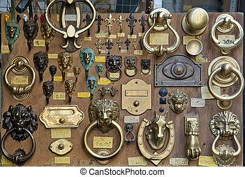 Classic style door bronze fixture for sale in Italy