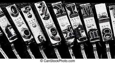 types of old typewriter - types and character of an old...