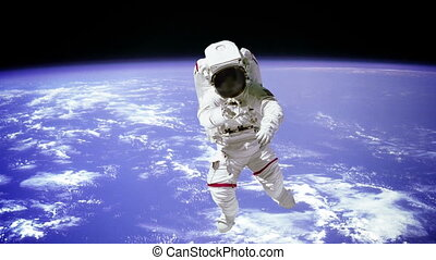 quot;The astronaut on a background of a planetquot; - The...