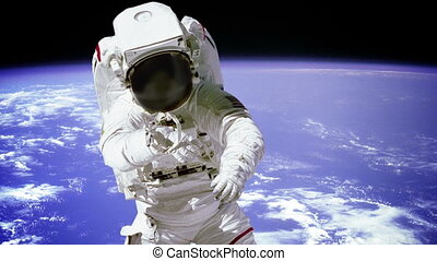 """Astronaut On Spacewalk."" - ""Astronaut On Spacewalk...."