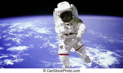 """Astronaut spaceman outer space people planet earth."" -..."
