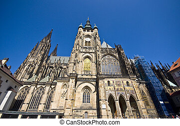 St Vitus Cathedral - detail of the famous St Vitus Cathedral...