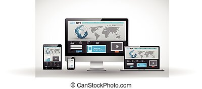 Responsive web design template - This image was made by...