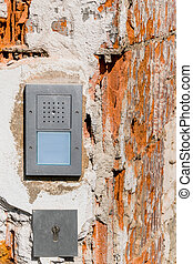 intercom broken facade - intercom broken , a symbol of...