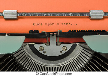 "Vintage Typewriter With Phrase ""Once upon a time..."" Typed..."