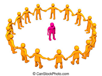 Integration - Orange cartoon character in a circle with a...