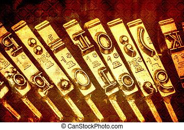 typewriter keyboard - keys of an old typewriter. symbolic...