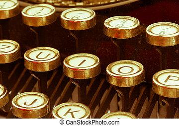 typewriter keyboard - keys of an old typewriter symbolic...