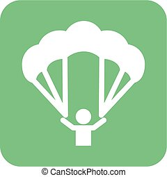 Paragliding, glider, parachute, jumping, sports icon vector...