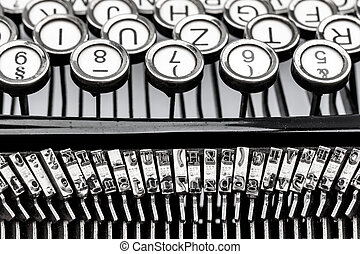 typewriter keyboard - keys of an old typewriter. symbolic...