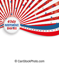 4th July Stars Stripes Flyer - Independence day retro flyer...