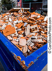construction debris at site