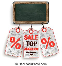 Blackboard Price Stickers Angebot - German text Top Angebot...