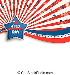 4th July Stars Stripes Flyer Silver Star - Independence day...
