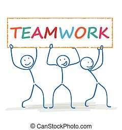 Stickman 3 Banner Teamwork
