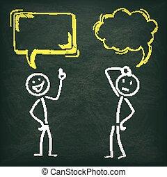 Blackboard Stickman 2 Speech Bubbles
