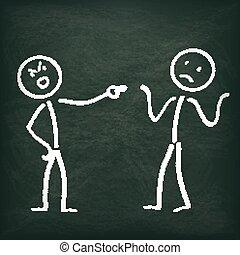 Blackboard Stickman 2 Allegation - Blackboard with 2...