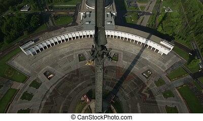 Stella in Victory Park, Poklonnaya Gora, Moscow aerial view