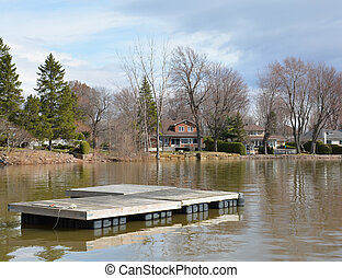 Lonely Dock: Too Cold to Swim - A lifeless dock sits on a...