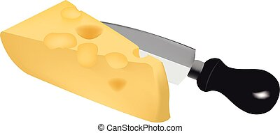 Piece of Swiss cheese and Dutch emm