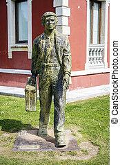 statue of Migrant in Cangas de Onis, Asturias - Cangas de...