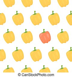 Sweet pepper seamless pattern. Vector illustration