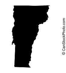 black map of Vermont