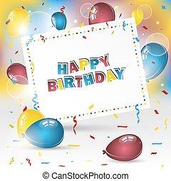 Happy birthday vector background