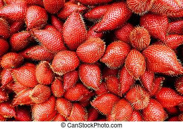 Salak tropical sweet fruit - Salak, tropical sweet fruit...