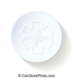 Heart First Aid thin lines icon