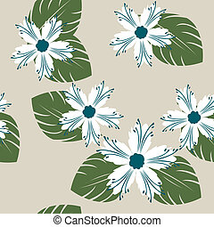 Apple tree flowers pattern illustration