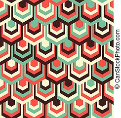 Abstract Hexagon Pattern - Abstract Hexagon Color Pattern