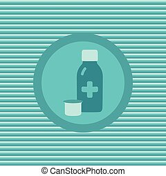 Therapeutic syrup color flat icon vector graphic...