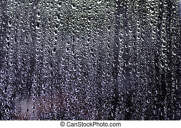 Water droplets on car window_02 - Water droplets that have...