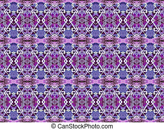 Geometric Seamless Ornament Pattern - Digital tehchnique...